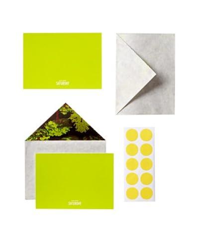 Kate Spade Saturday One, Two, Tree Motif Set of 10 Card & Envelope Stationery Set