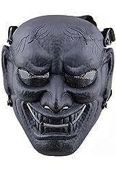 Japanese Samurai Masks-Airsoft Protective Masks -Permance Goggle-Black-Halloween Mask