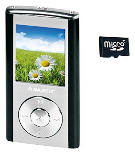 """Majestic 114357_BK Lettore MP3 e MP4 con Display LCD a Colori 1.8"""", Radio FM e Registratore Vocale, 4 GB, Nero"""