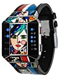 01TheOne ゼロワン・ジ・ワン Unisex SC122B1 Split Screen Romero Britto Art Limited Edit...