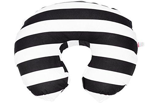 danha-nursing-pillow-slipcover-black-white-stripe