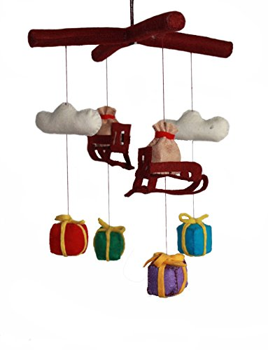 Silk Road Bazaar Mobile, Santa's Sleigh/Multicolored, 0-3 Years