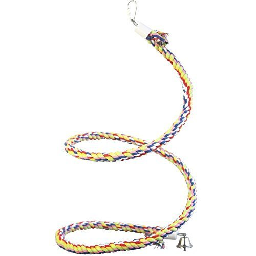 Vpets Bird Creations Diameter 0.47 inches By Length 45.67 inches Rope Bungee Bird Toy