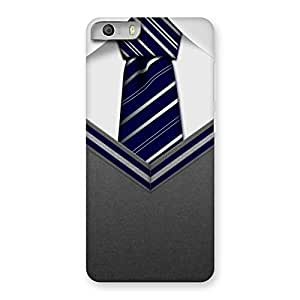 Enticing Grey Uniform Back Case Cover for Micromax Canvas Knight 2