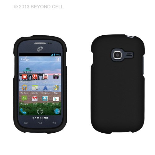 Protective Case By Beyond Cell - Compatible With Samsung Galaxy Discover S738C/S730G/S740 - Case Color: Black Carrier: Straight Talk front-17573