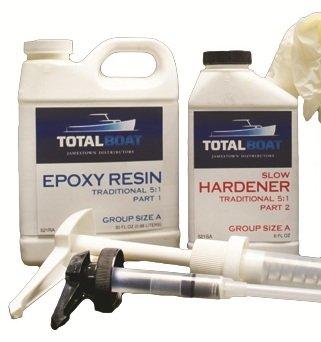 TotalBoat 5:1 Epoxy Kit (Quart, Fast Hardener) (Fiberglass Resin 5 Gallon compare prices)