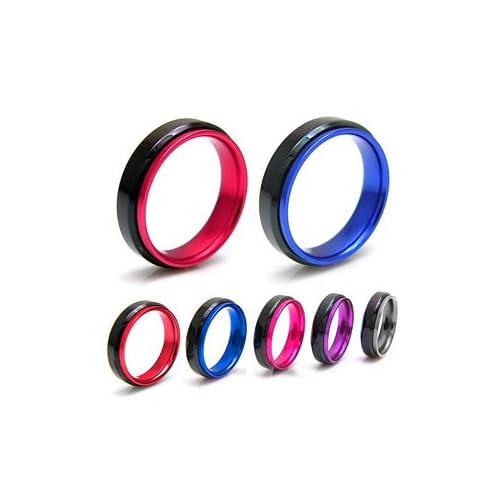 ステンレスリング ステンレス メンズ リング レディース ピンク ブラック アルミニウム sr0102 【レッド-16号】