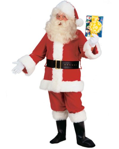 Value Santa Claus Suit With FREE Wig and Beard!