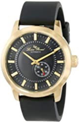 Lucien Piccard Men's LP-12550-YG-01-BK 90th Anniversary Analog Display Japanese Automatic Black Watch