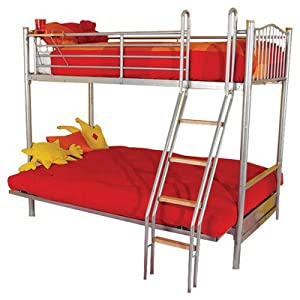 Halkyn Futon Triple Sleeper Bunk Bed Colour: Lime Green