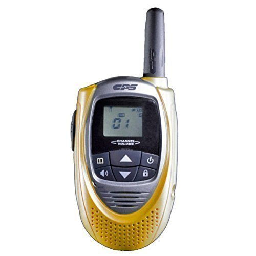 CPS CP101 Walkie Talkie FRS (Owner of US Design Patent,Will Take Legal Action To Stop Infringing Product T228) (Yellow)(1 Piece)