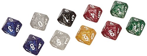 10D10 Glitter Dice Set, Assorted