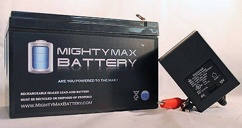ML12-12 – 12 VOLT 12 AH SLA BATTERY F2 TERMINAL INCLUDES 12V CHARGER