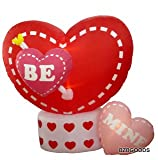 Animated eight Foot valentines Day blow up Hearts 2012 present Yard Decoration -- Heart Rotates