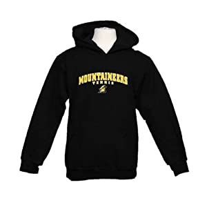 Appalachian State Youth Black Fleece Hood-Large, Mountaineers Tennis
