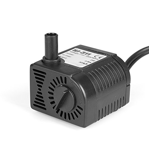 Flexzion submersible water pump powerhead 80 gph with for Best water pump for pond