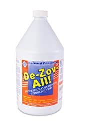 Harvard Chemical 505 De-Zov-All Solvent Degreaser, Citrus Fragrance, 1 Gallon Bottle, Amber (Case of 4)