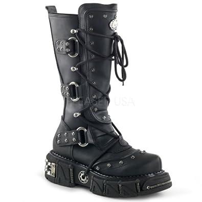 Demonia Unisex Dma 3000 Boots,Black,7 M