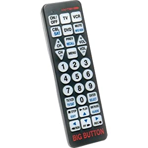 Hy-Tek Big Button BW1220 Universal Remote Control