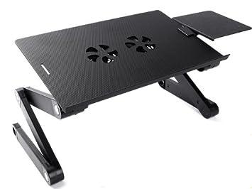 zyon support pliant de bureau pour ordinateur portable avec cooling pad pour apple macbook 13. Black Bedroom Furniture Sets. Home Design Ideas