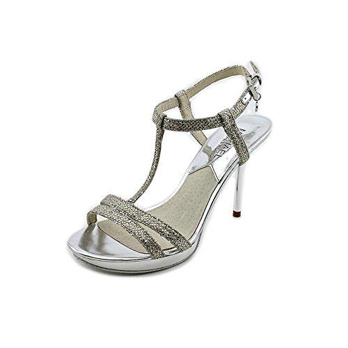 Michael Kors Yvonne Platform Womens Size 6.5 Silver Platforms Sandals Shoes front-610873