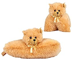Kuddles Cat Cushion, 28 cm by Ultra (Brown)