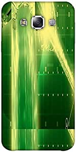 Snoogg Green Crystal In The Grid 2638 Solid Snap On - Back Cover All Around P...