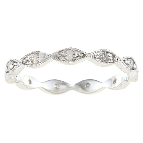 Sterling Silver 1/4ct Eternity Stackable Diamond Band (G-H, I2)
