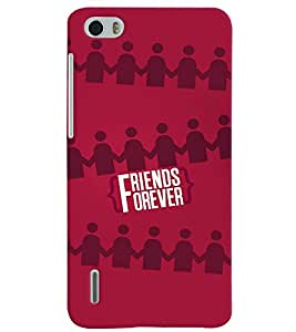 PrintVisa Friends 3D Hard Polycarbonate Designer Back Case Cover for Huawei Honor 6