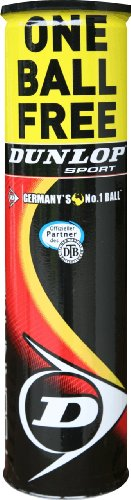 Dunlop Tennisball Fort Tournament 3+1, gelb