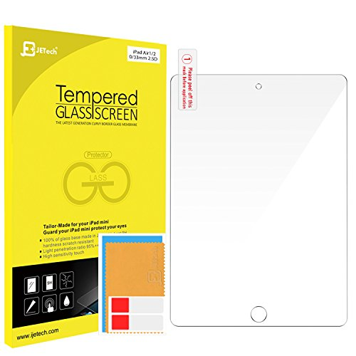 "JETech iPad Air and iPad Pro 9.7 Tempered Glass Screen Protector Film Fits Apple iPad Air 1/2 and iPad Pro 9.7"" - 0338"