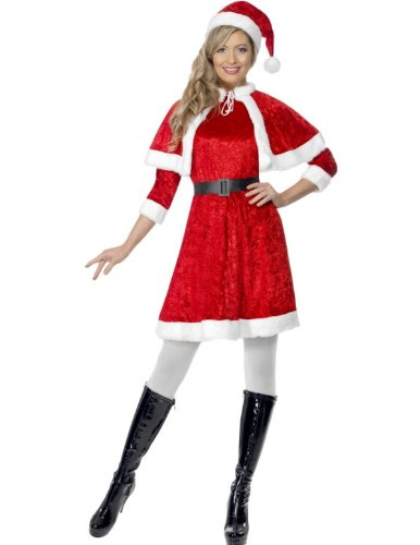 Miss Santa Fancy Dress Costume with Cape