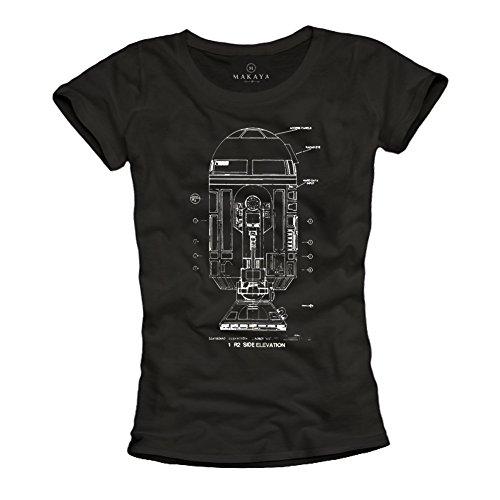 Magliette nera donna - R2 ROBOT - T-shirt Big Bang Theory Sheldon S