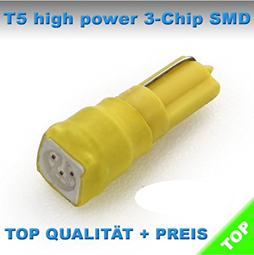 T5 LED helle 5050 SMD Tacho Umbau Knopf Beleuchtung (Gelb)