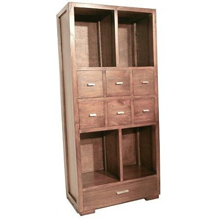 CAL FUSTER - Librería estantería de madera con cajones