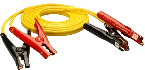 Coleman Cable 08471 12-Feet Medium-Duty Booster Cable with Non-Polar Glow Clamps, 8-Gauge
