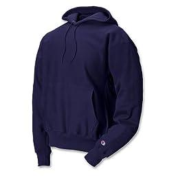 Champion Men\'s Men\' Reverse Weave Fleece Pullover Hood, Navy, Medium