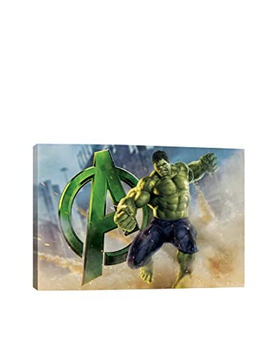 Hulk, The Avenger Movie Poster Gallery-Wrapped Canvas Print