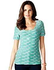 Per Una Ripple Striped T-Shirt