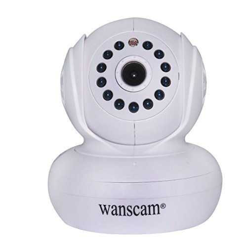 Wanscam Ir Cut Ip Network Camera Security Audio Wireless Wifi Alarm Night Vision Baby Monitor Dual Audio Pan Tilt Webcam With Tf Card Slot - White front-273959