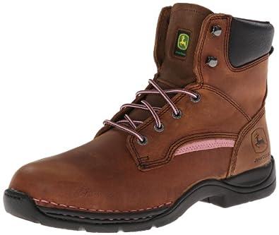 John Deere Ladies JD3612 6 Steel-Toe Hiker Boot by John Deere