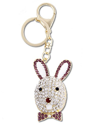 Young & Forever Beautiful 18K Gold Plated Bling Bling Mr Honey Bunny Bag Charm Key Ring & Key Chain By CrazeeMania...