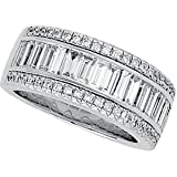 14K White Gold Diamond Bridal Band Ring