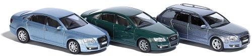 Busch 1612 Audi Set ( 3 Stück ), H0 Auto Modell 1:87, Neu 2014