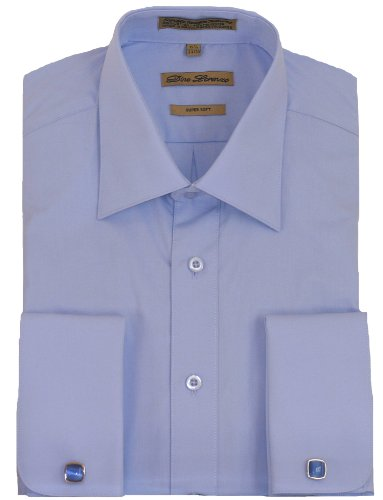 Buy Blue French Cuff Dress Shirt Cufflinks Included Deal