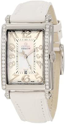 Gevril Women's 7249NE Mini Quartz Avenue of Americas White Diamond Watch
