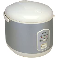 Sanyo ECJ-N55W 5-1/2-Cup (Uncooked) Electric Rice Cooker with Porridge/Soup Cooker and Steamer