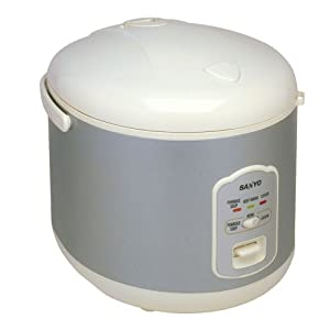 Sanyo ECJ-N55W 5 1/2 Cup Electric Rice Cooker with Porridge/Soup Cooker and Steamer