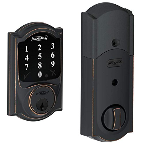 Best Prices! (New Model) Schlage Connect Camelot Touchscreen Deadbolt with Z-wave Technology and Ext...