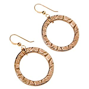 Infinity peace bronze earrings